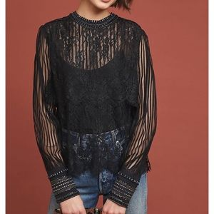 New Anthropologie Bl^nk Brand Mileena Lace Top